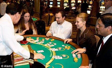 casino dealer blackjack table games