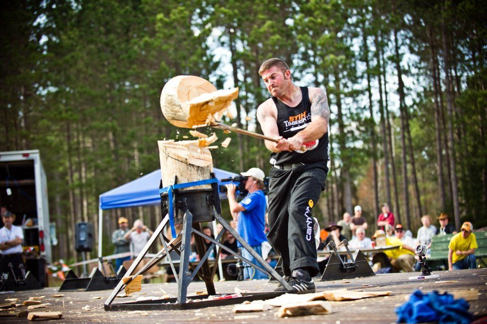 event in the world lumberjack championship