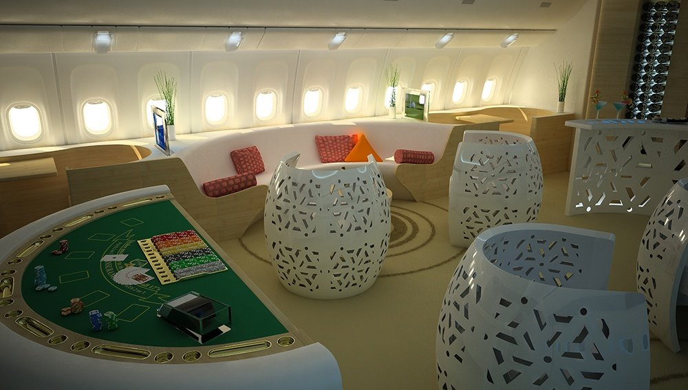 AirJet Design's imagined concept of a flying casino.