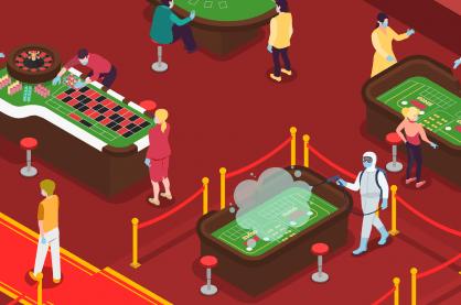 Graphic of casinos operating under coronavirus restrictions