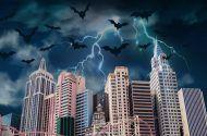 spooky vegas skyline