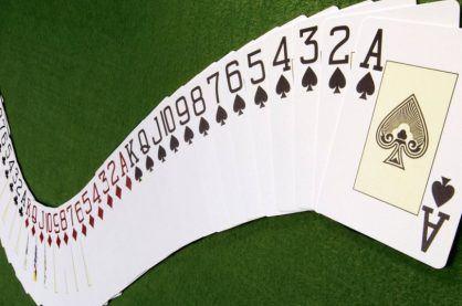 Modern deck of 52 cards