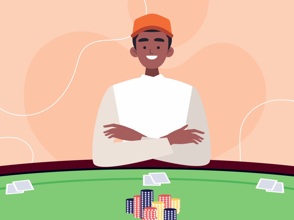 Relaxed poker player