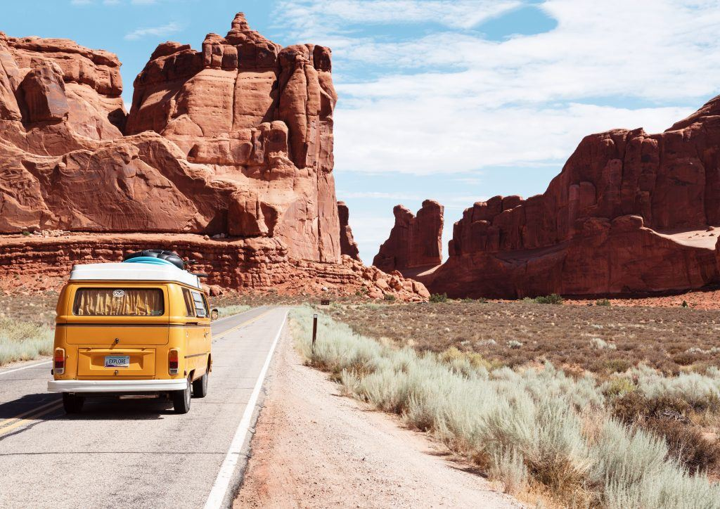 Campervan on road