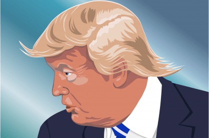 Cartoon of Trump