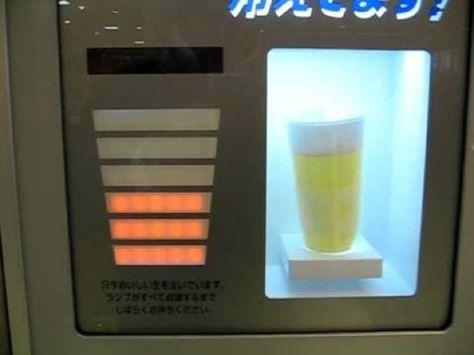 Draft beer vending machine