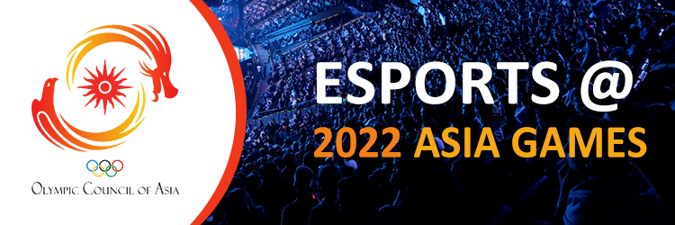 Official advertisement for the 2022 eSports Asia Games