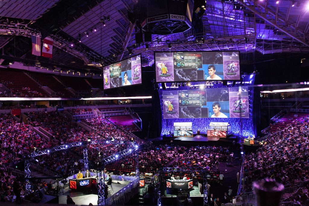 An overhead shot from an eSports event