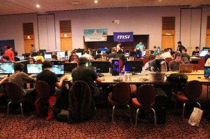 eSports competitive LAN event