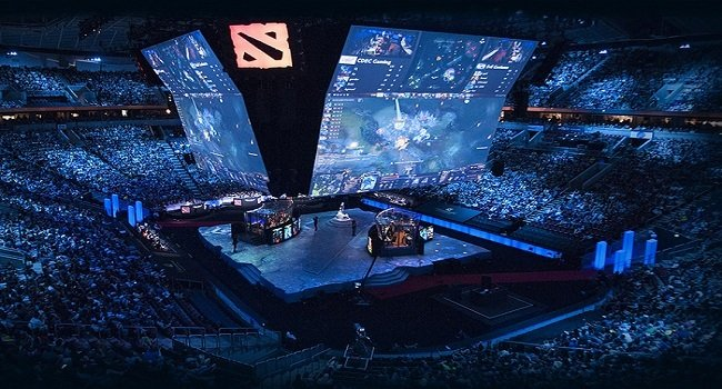 An image of an eSports event arena