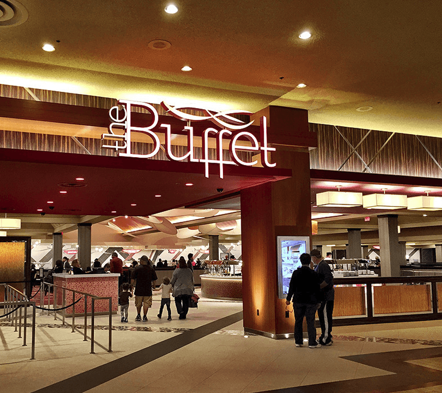interior of buffet at the excalibur