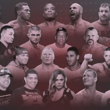 Montage of famous UFC fighters