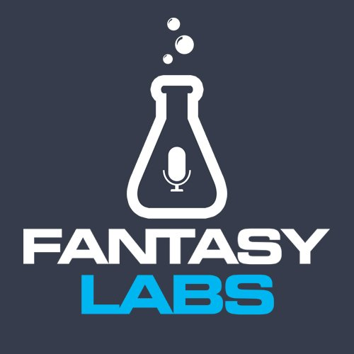 Fantasy Labs podcast logo on a dark grey background