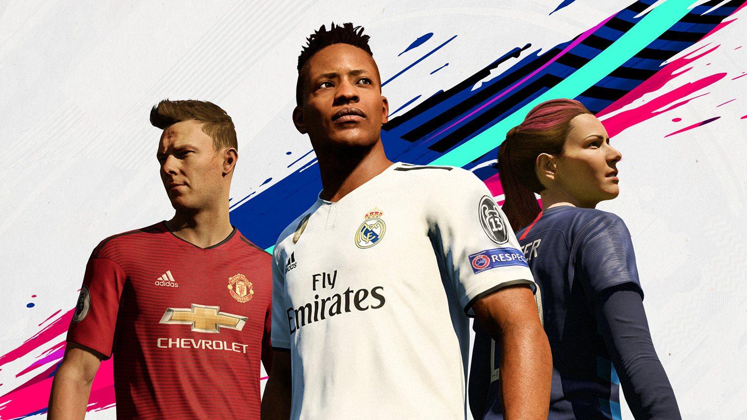 FIFA 19 The Journey Three Heros: Alex Hunter, Kim Hunter and Danny Williams