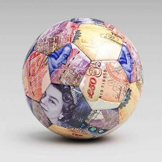Football made of cash