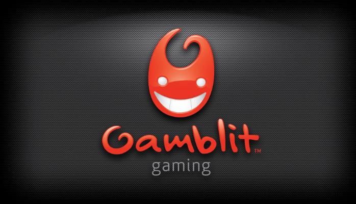 Gamblit Gambling logo on a black background