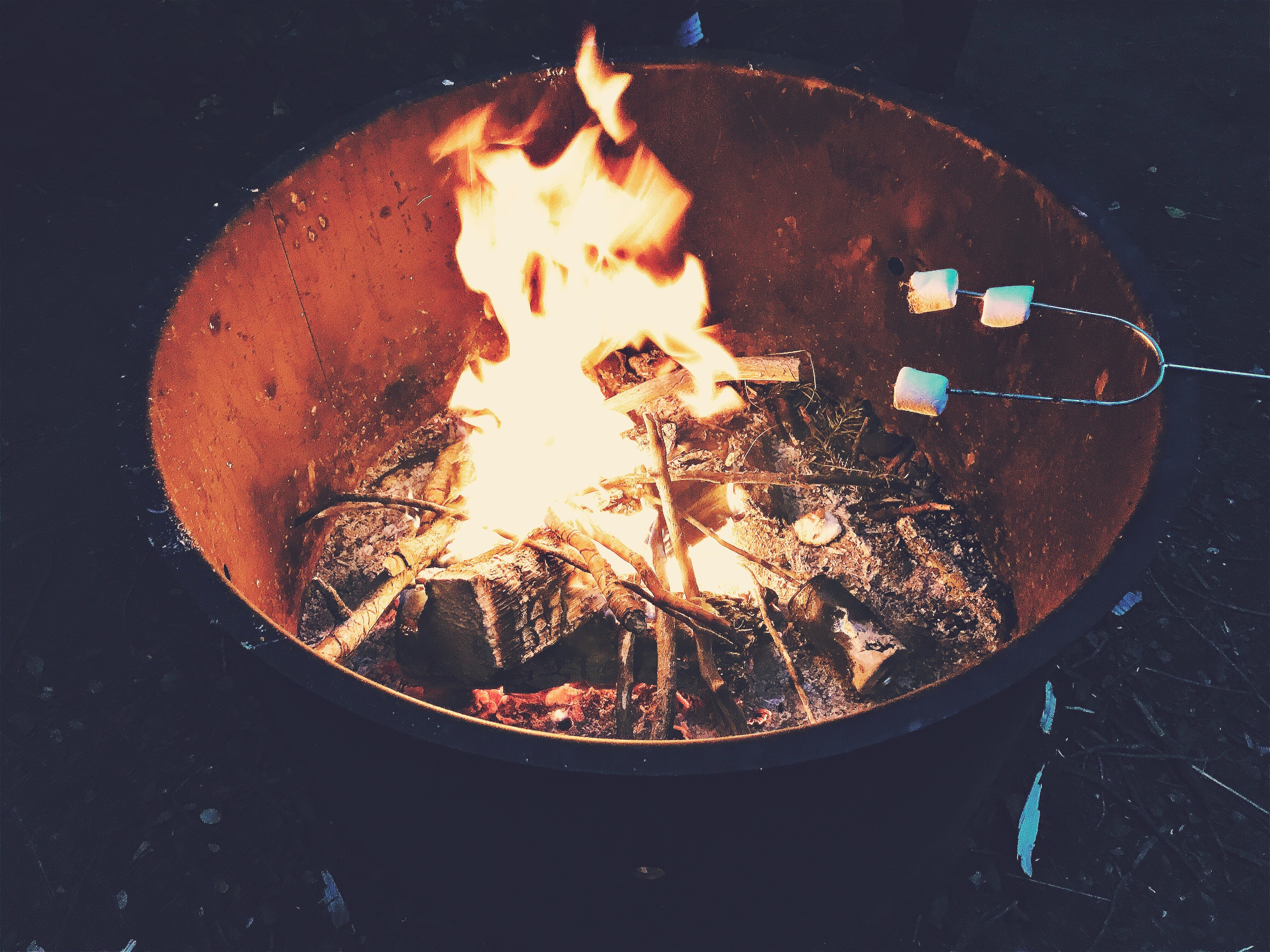 Smores on the fire