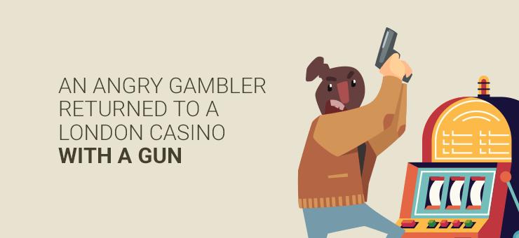 man with gun holds up British casino