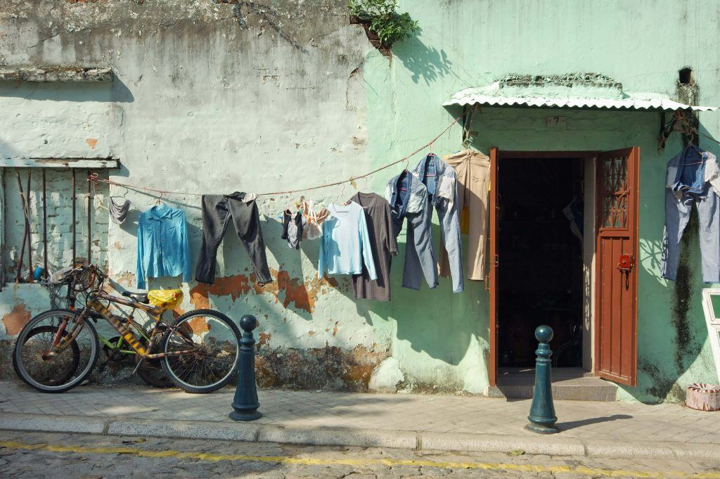 outside of slum home in Macau