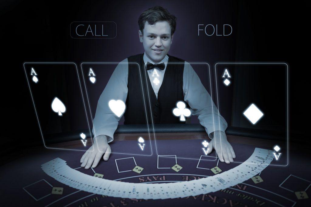 Blackjack at a virtual reality casino