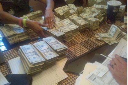 Illegal gambling ring cash