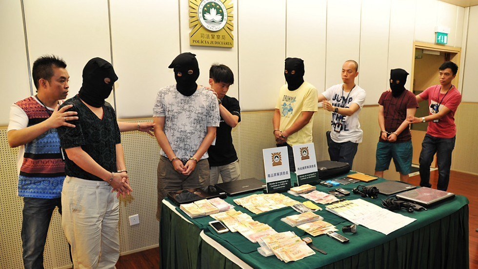 Macau illegal gambling ring criminals