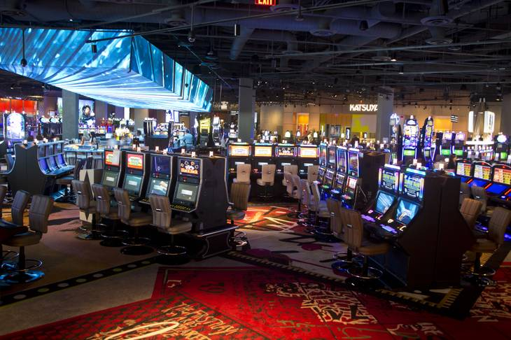 SLS Casino on opening day, August 19, 2014. (Source: vegasinc.com)