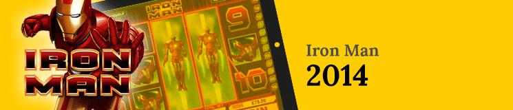 Iron Man Machine 2014 on a yellow background