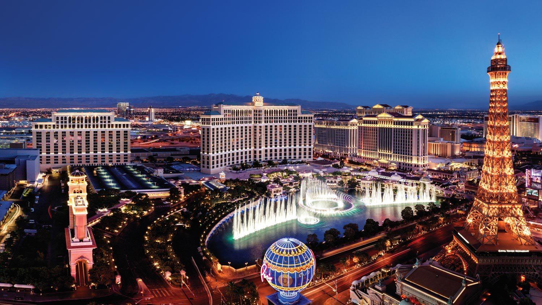 Centre of the strip at Las Vegas, Nevada