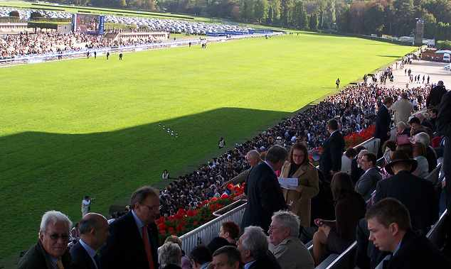 The world's richest turf race takes place at Longchamp.