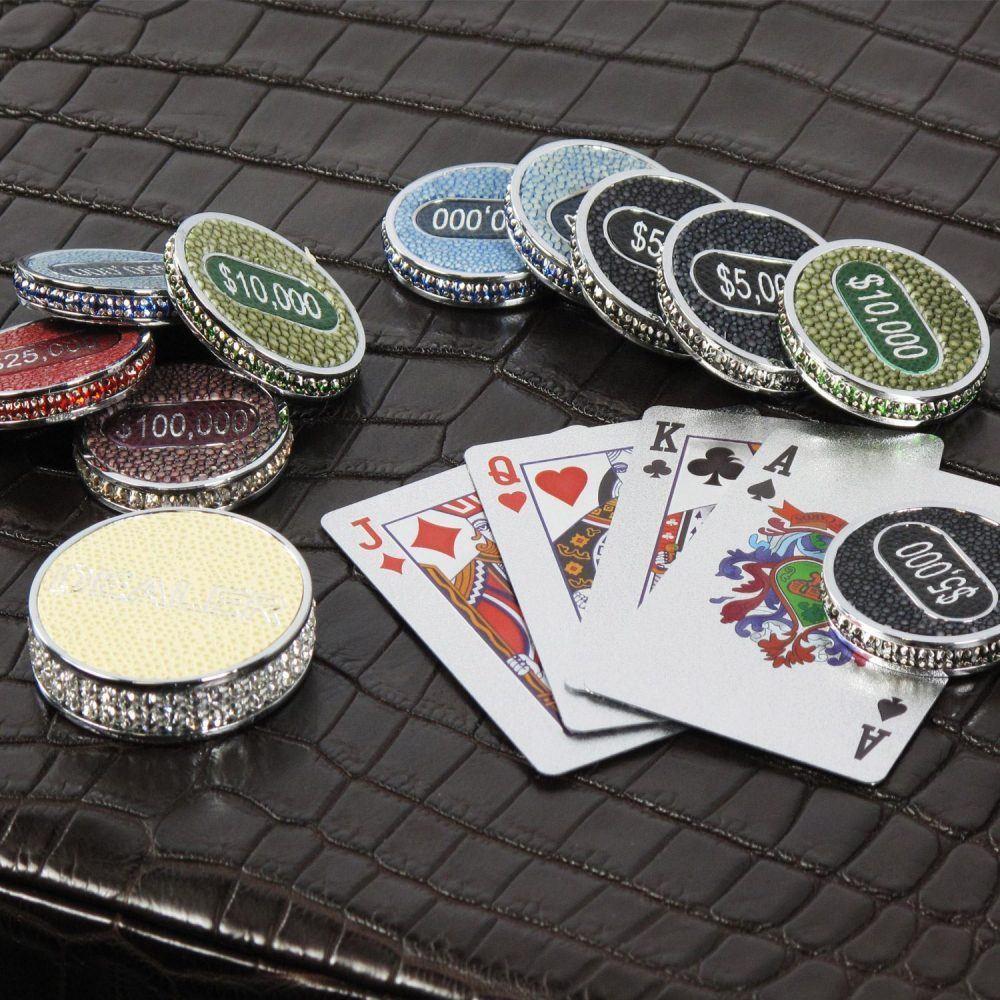 Luxury poker set from Geoffrey Parker