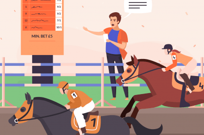 Bookie by horse track