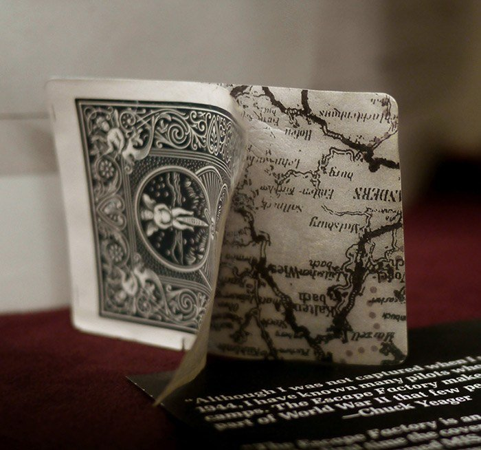 Card peels in two to reveal secret map
