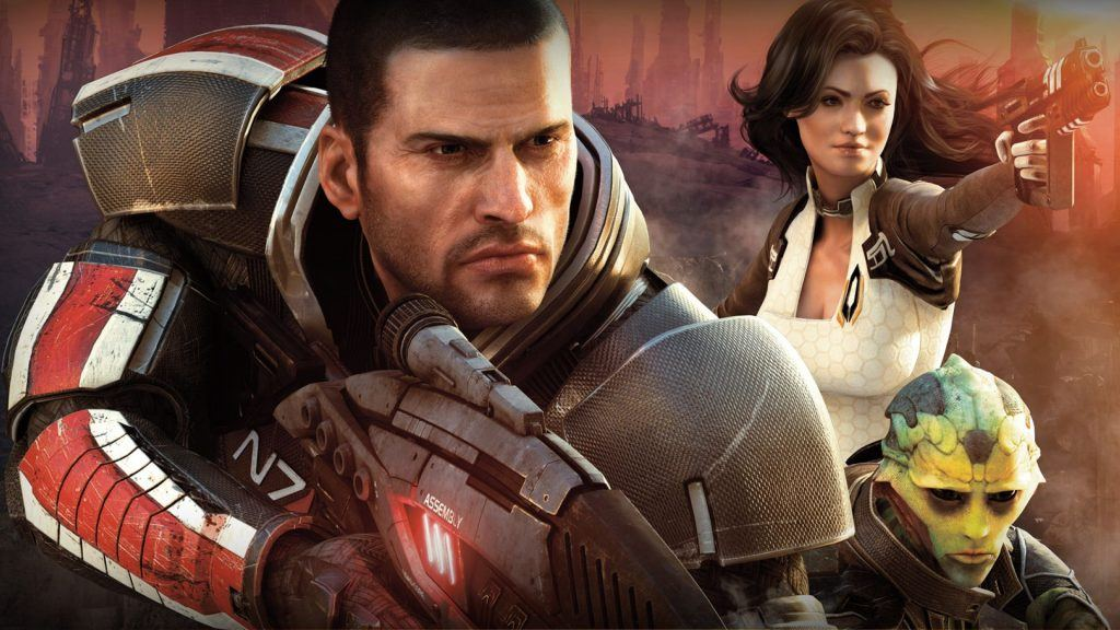 imagery from mass effect game