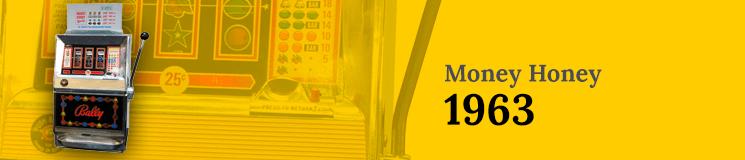 Money Honey machine 1963 on a yellow background