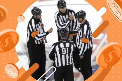 NHL referees talking