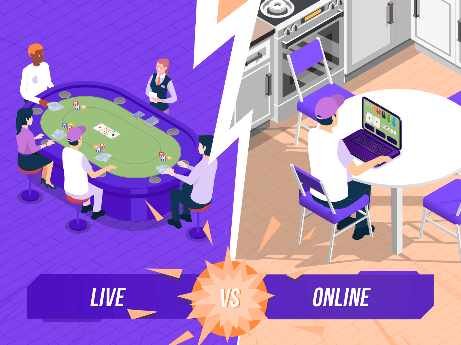 Online Poker Vs Live Poker Games Top 9 Differences