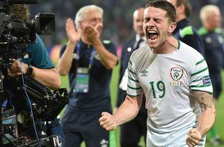 Ireland needed a late goal against Italy to progress. Does their adventure end against France? (Source: AFP)