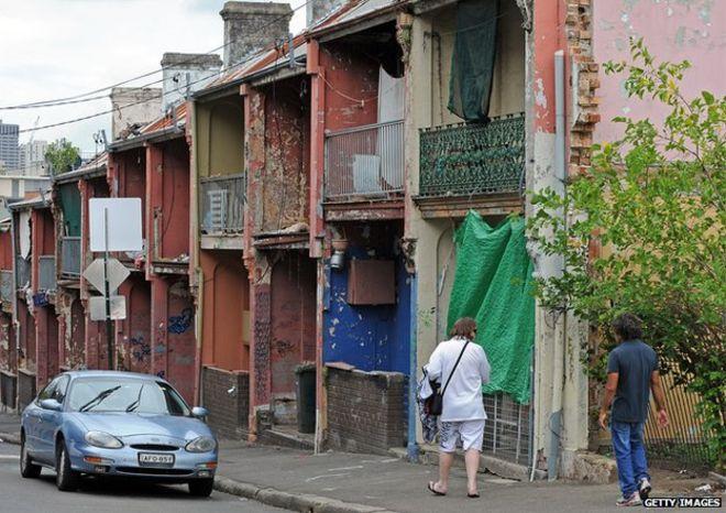 A poor neighbourhood situated in Australia
