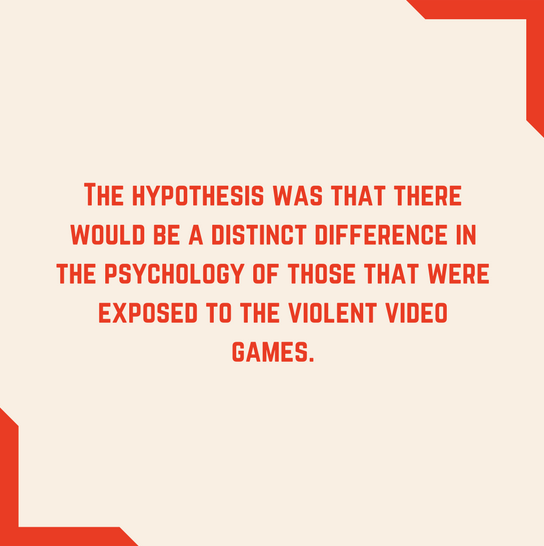 red edged box with quote about video game experiment