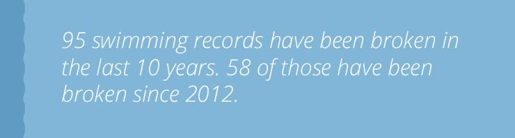 quote with stats about swimming records