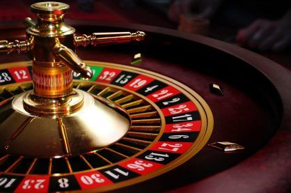 A typical example of a live casino roulette wheel
