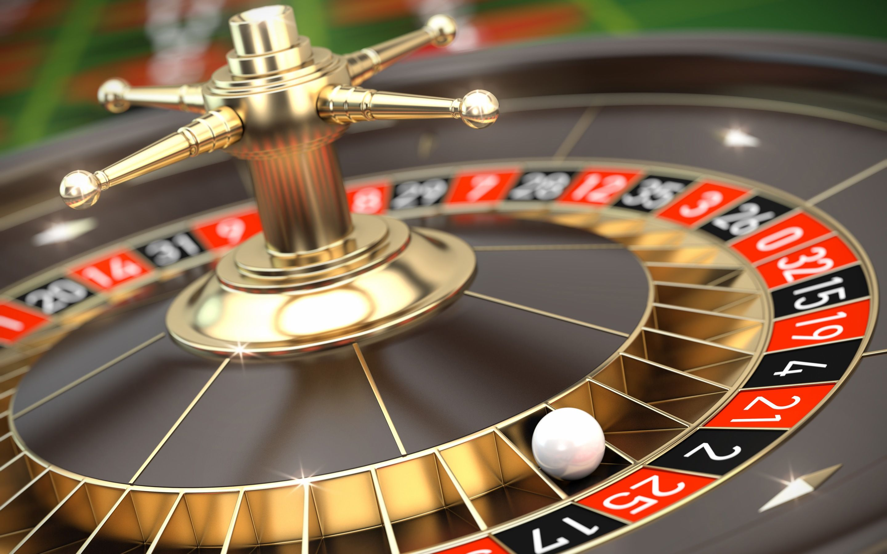roulette wheel with ball