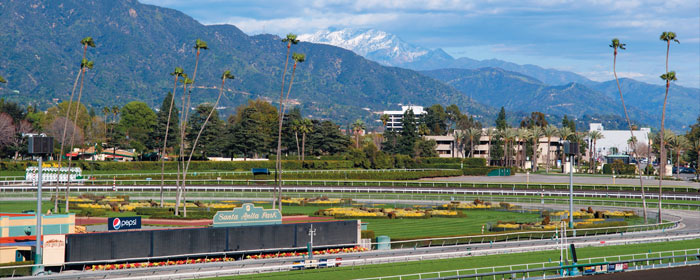 The most beautiful race track in the world to many is Santa Anita