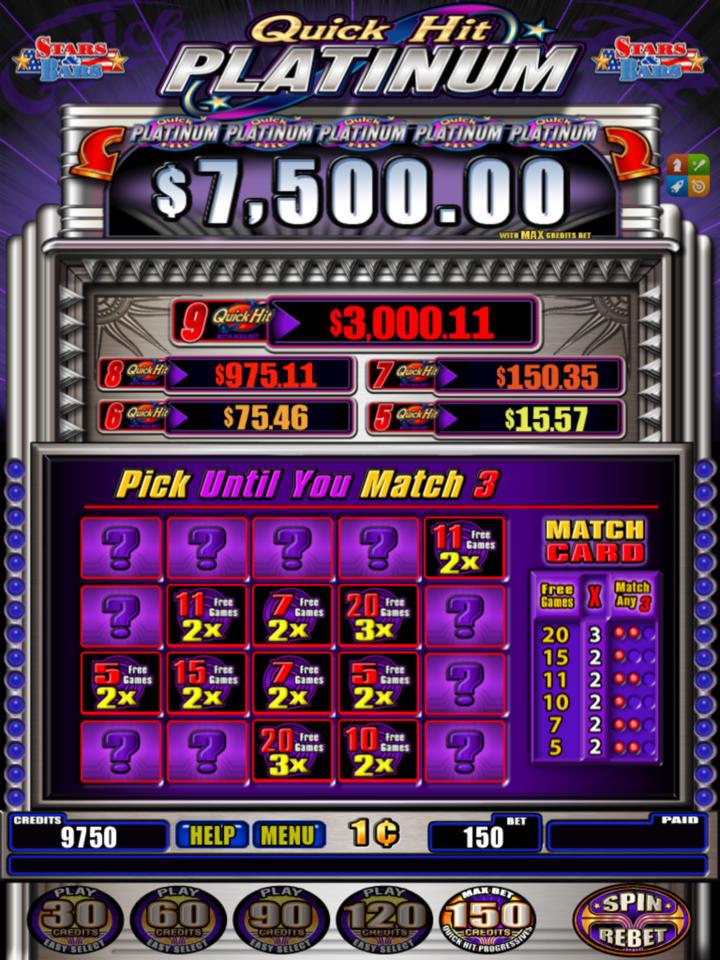 Slot Machine - Quick Hit Platinum