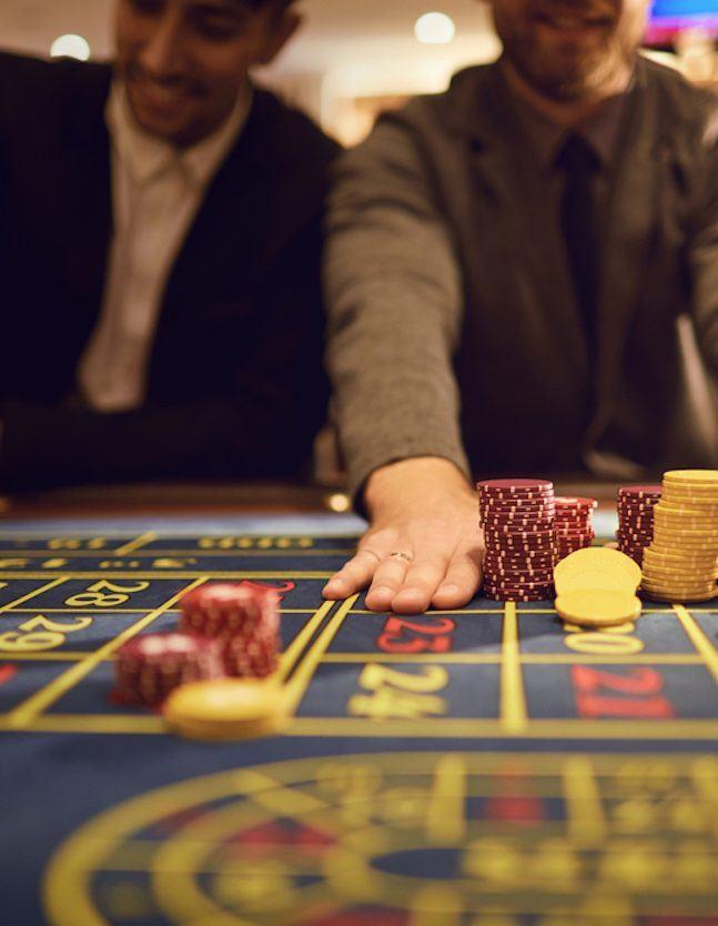 Gamblers at the casino