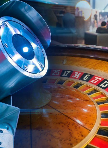 Roulette wheel with security camera