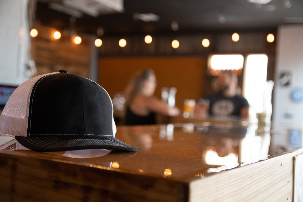 hat on a bar
