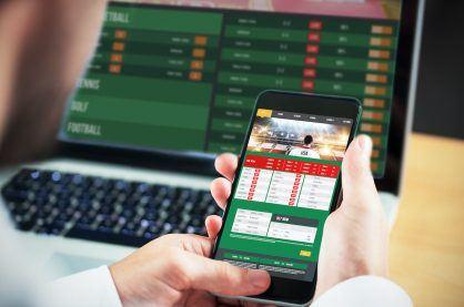 gambling app screen