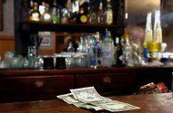Two Dollar Tip Left For Bartender